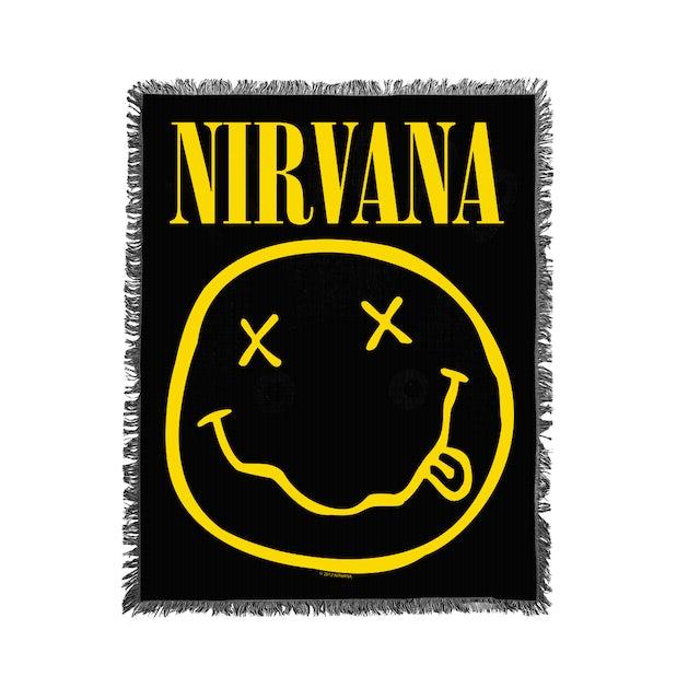 Nirvana Smiley Woven Blanket