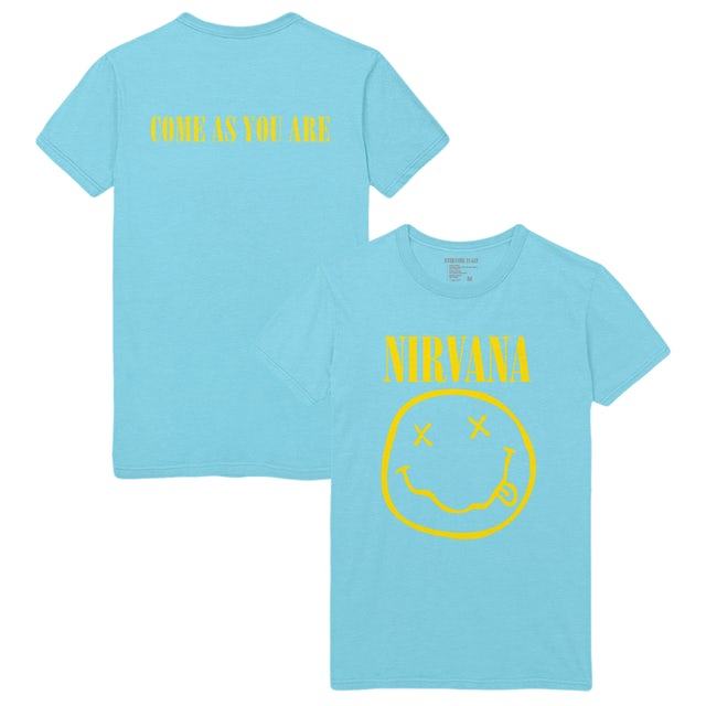Nirvana Come As You Are Smiley Tee - Blue