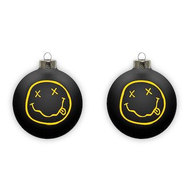 Nirvana Smiley Ornament - Black