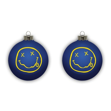 Nirvana Smiley Ornament - Blue
