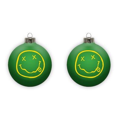 Nirvana Smiley Ornament - Green