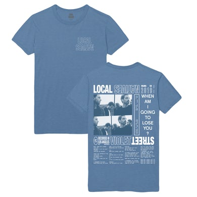 Local Natives VIOLET STREET BLUE TEE