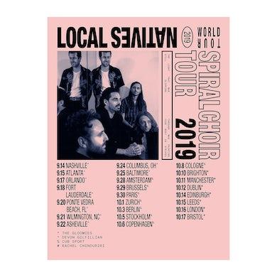 Local Natives Spiral Choir 2019 Tour Poster