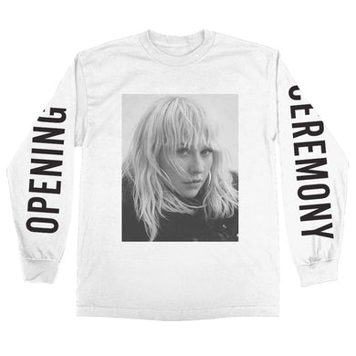 Christina Aguilera Opening Ceremony B&W Photo Long Sleeve Tee