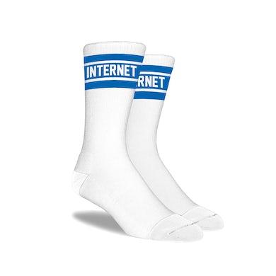 The Internet BLUE LOGO SOCKS