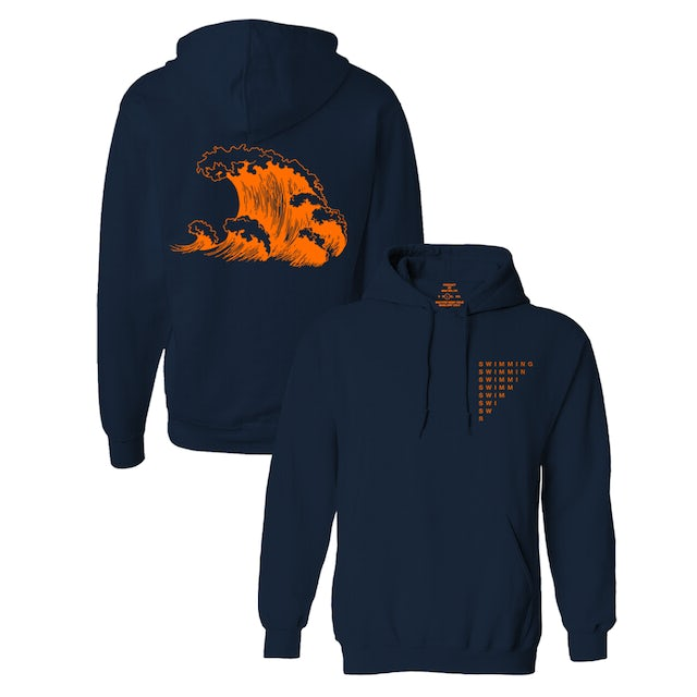 Mac Miller SWIMMING WAVE HOODIE - NAVY