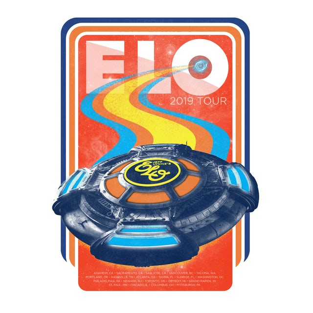 ELO (Electric Light Orchestra) 2019 Tour Poster