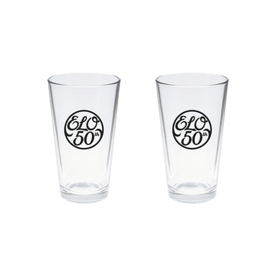 ELO (Electric Light Orchestra) 50th Anniversary Pint Glass Set of 2