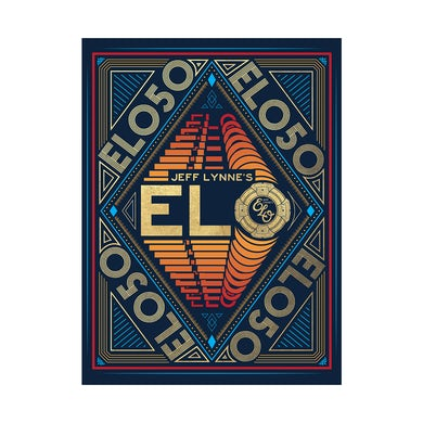 ELO (Electric Light Orchestra) 50th Anniversary Poster