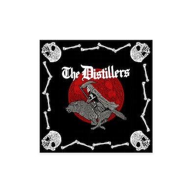 The Distillers RED SKULL AND BONES BANDANA