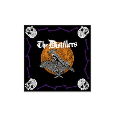 The Distillers ORANGE SKULL AND BONES BANDANA