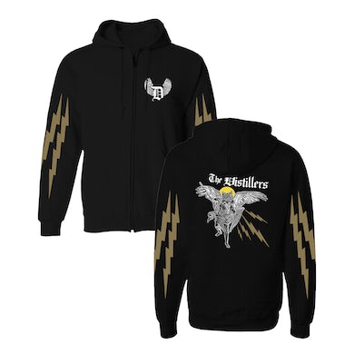 The Distillers Angel Wolf Zip Hoodie
