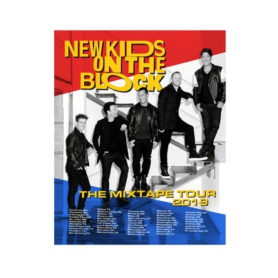 New Kids On The Block BENCH BW PHOTO LITHO