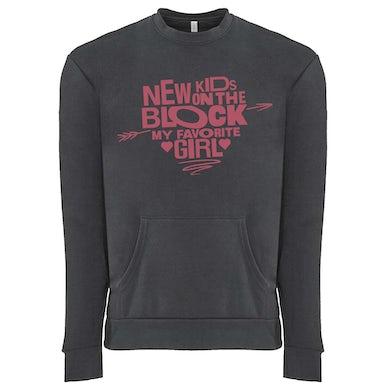 New Kids On The Block Favorite Girl Crewneck Sweatshirt