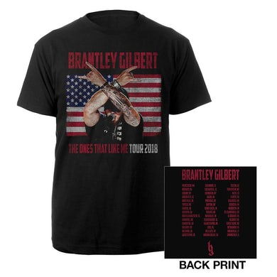 Brantley Gilbert The Ones That Like Me Flag Photo Tee