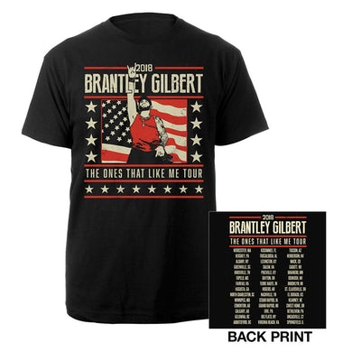 Brantley Gilbert The Ones That Like Me Flag Tee