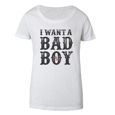 Brantley Gilbert I want a Bad Boy Women's Tee White