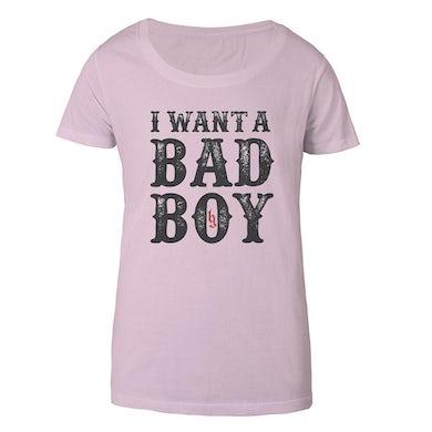 Brantley Gilbert I want a Bad Boy Women's Tee Pink