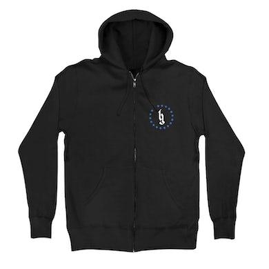 Brantley Gilbert BG Logo Flag zip hoodie