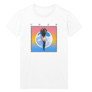 Cher in the clouds photo Tee (White)