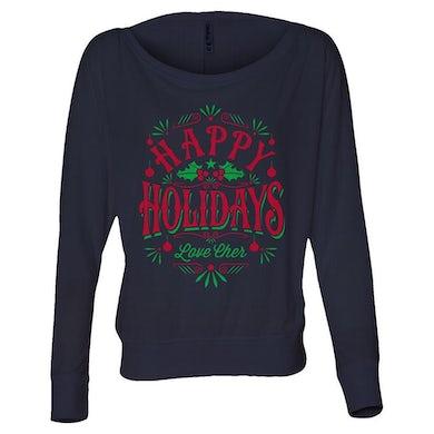Cher Happy Holidays Long Sleeve Tee
