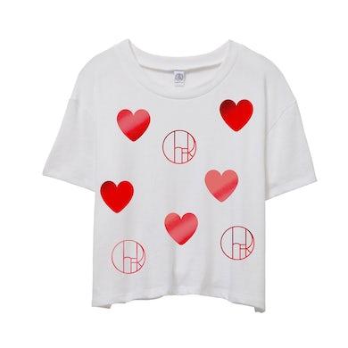 Cher Hearts Ladies Crop Tee