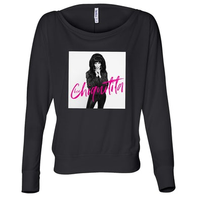 Cher Chiquitita Photo Long Sleeve Tee Black