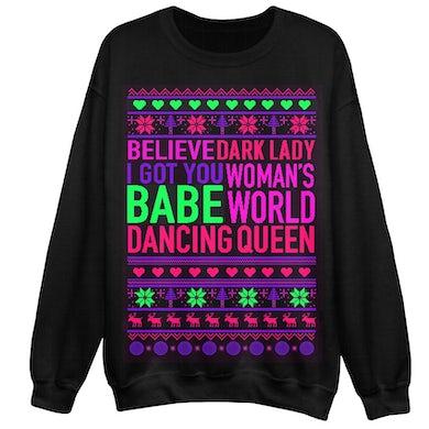 Song Title Holiday Christmas Sweatshirt