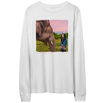 Cher & The Loneliest Elephant White Long Sleeve Tee