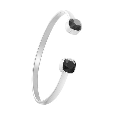 Sarah Brightman Stacking Bracelet Silver - Onyx