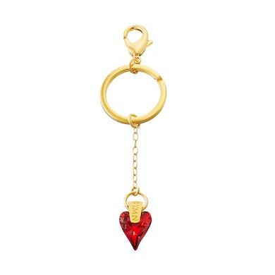 Sarah Brightman Sacred Heart Key Ring - Red Magma