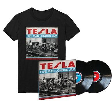 Tesla Five Man London Jam LP & Tee