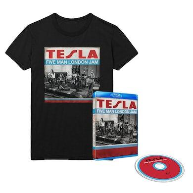 Tesla Five Man London Jam BluRay & Tee