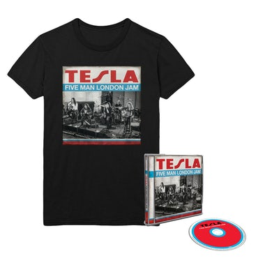 Tesla Five Man London Jam CD & Tee