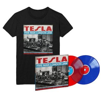 Tesla Five Man London Jam Limited Edition Color LP & Tee