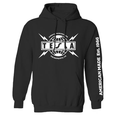 Tesla Classic Logo pullover hoodie
