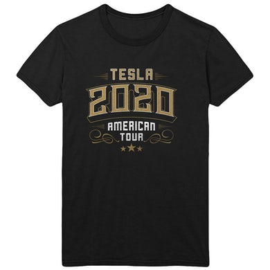 Tesla 2020 American Tour Black Tee