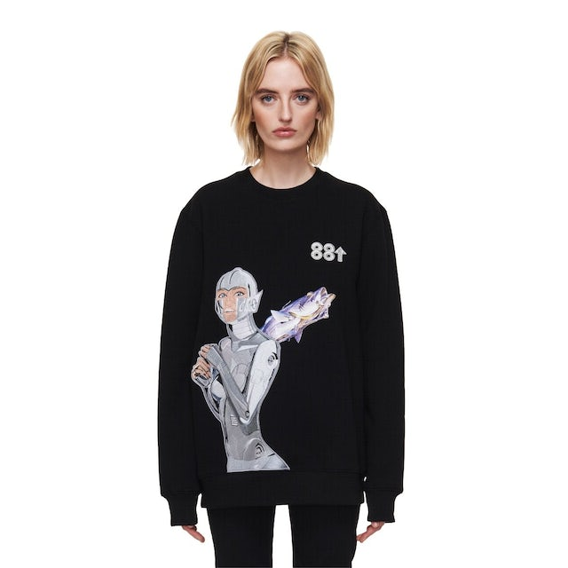 88rising 88SORAYAMA ROBOT EMBROIDERED AR LONG SLEEVE CREW