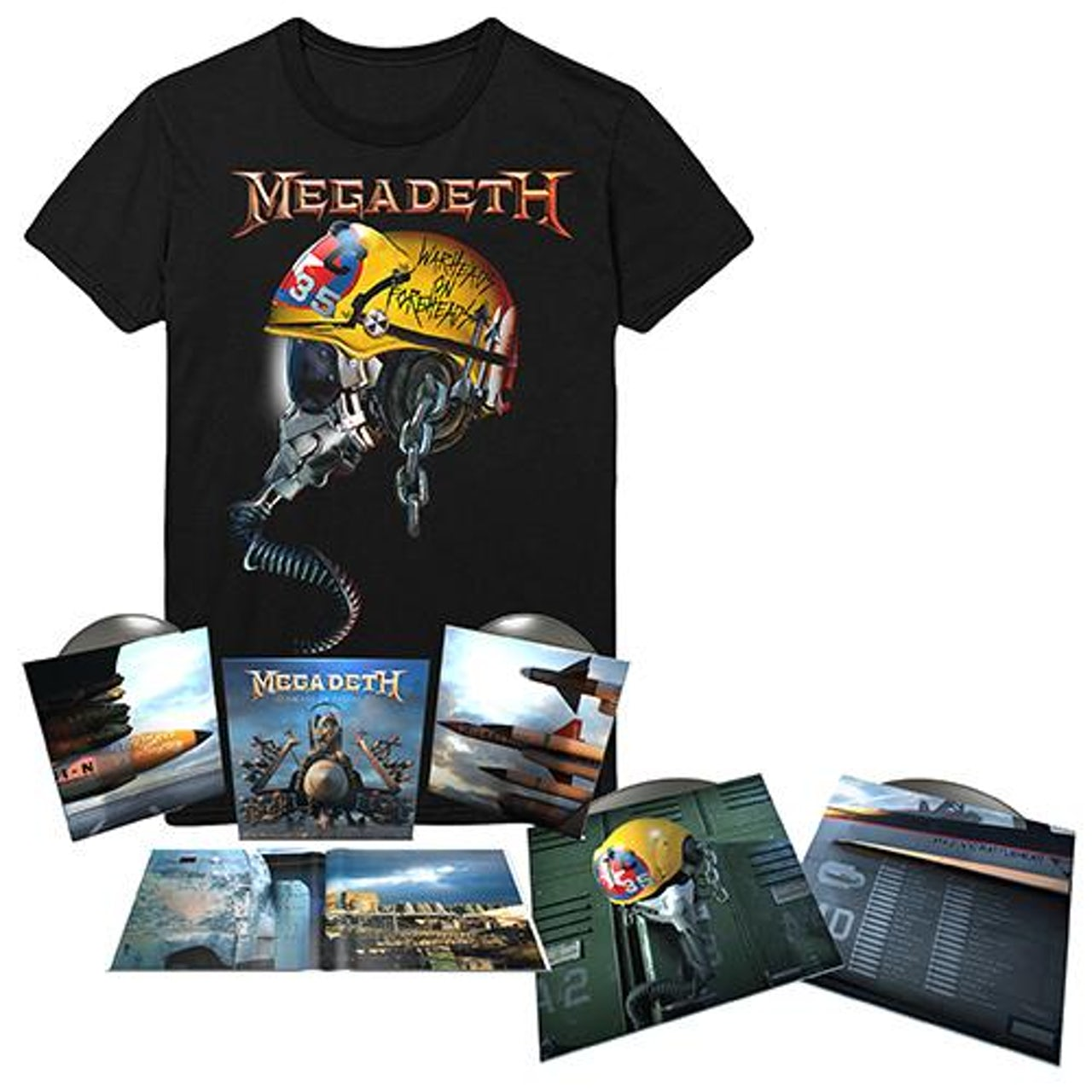 aeb3c881e Megadeth. Warheads On Foreheads Album & Full Metal Vic Tee Bundle. $44.95