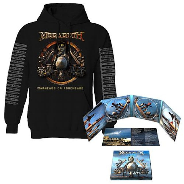 Megadeth Warheads on Foreheads Album & Reactor Sweatshirt Bundle