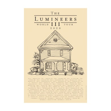 The Lumineers 2020 World Tour Poster