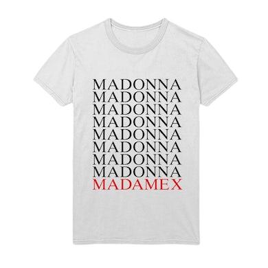 Madonna Madame X logo tee - white