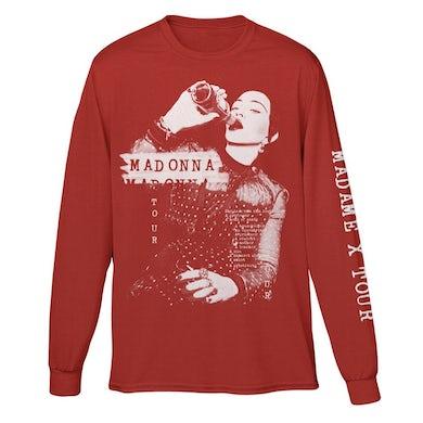 Madonna Madame X Red Long Sleeve Tee