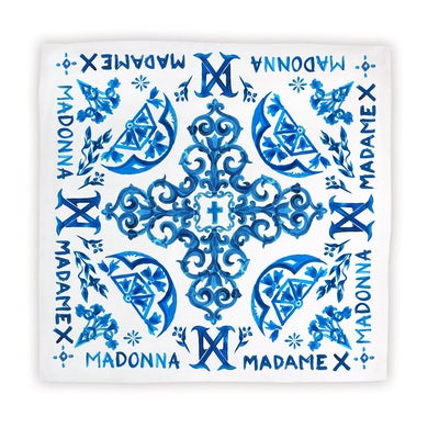 Madonna Blue Tiles Scarf