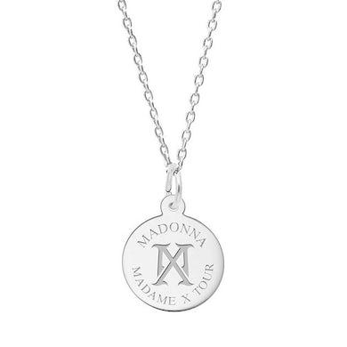 Madonna MX Logo Silver Necklace