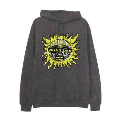 Sublime Mineral Washed Charcoal Hoodie