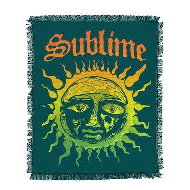 Sublime Sun Fade Teal Blanket