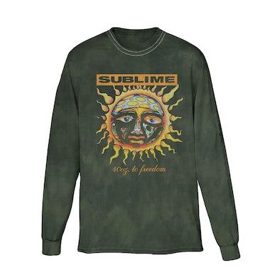 Faded Green Sublime Sun Longsleeve