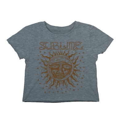 Sublime Woodcut Sun Cropped Tee