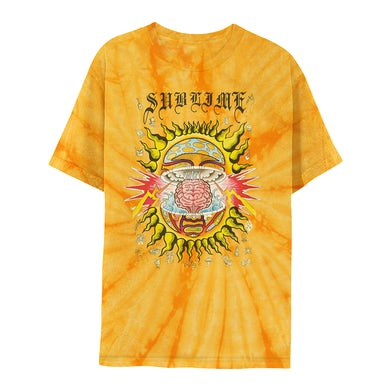 Mind-Blown Sun Gold Tie-Dye Tee